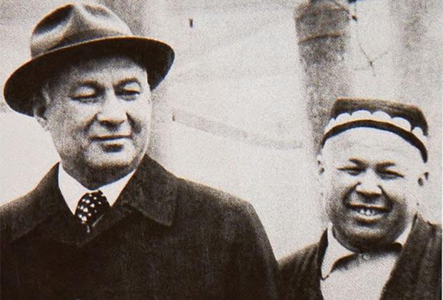 Шараф Рашидов и Ахмаджон Адылов