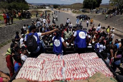 Гуманитарная помощь из Бразилии доехала до границы Венесуэлы