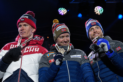 Александр Большунов, Шур Рете и Мартин Сундбю