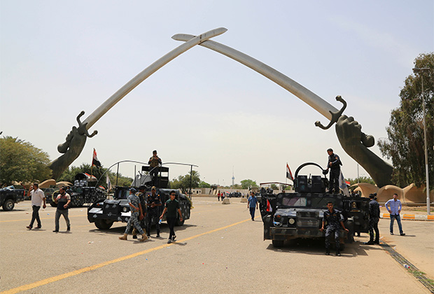 Выезд из «зеленой зоны» в Багдаде