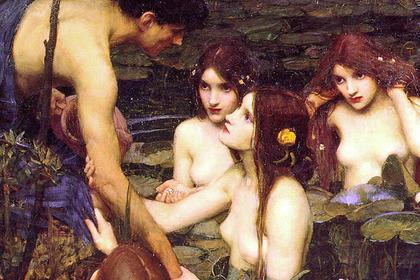 Фрагмент картины «Гилас и нимфы», 1896