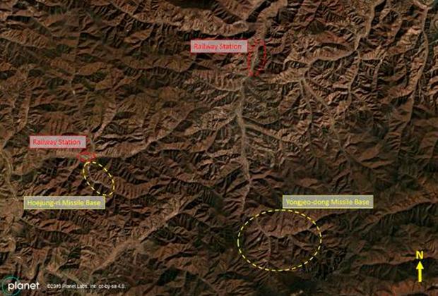 Кадры со спутников, на которых предположительно изображены тайные ракетные полигоны КНДР