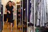 Для визита в шоурум Smart Works герцогиня выбрала лаконичное трикотажное платье для беременных марки Hatch и дополнила его сумкой Vanity Box от Виктории Бэкхем и туфлями Gianvito Rossi (модель Cow Print Plexi из коровьей шкуры и прозрачного пластика). Украшениями Меган не злоупотребляет: кроме обручального кольца и помолвочного кольца с тремя бриллиантами она надела только серьги антверпенского бренда Kimai Felicity. Войдя в помещение, герцогиня сбросила элегантный плащ верблюжьего цвета марки Oscar de la Renta.