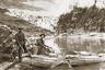 Искатели приключений и фотографы Эллсворт и Эмери Колбы на реке Колорадо. Фотография сделана около 1911-1912 годов. «Эллсворт и Эмери были последними пионерами Большого каньона и самыми яркими из них. Они висели на веревках, прижимались кончиками пальцев к отвесным стенам скал, взбирались на практически недоступные вершины, преодолевали, казалось бы, непроходимые пороги, бросали вызов стихиям и отправлялись в неизвестную пустыню — все ради фотографии», — рассказывает о них Роджер Тэйлор, посвятивший жизни братьев биографическую книгу.
