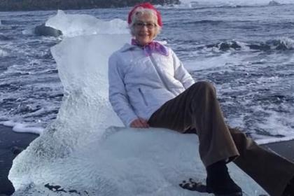 Старушка села на льдину и уплыла