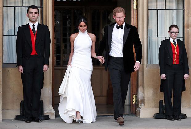 Герцогиня и герцог Сассекские отправляются на прием в честь своей свадьбы, 19 мая 2018 года
