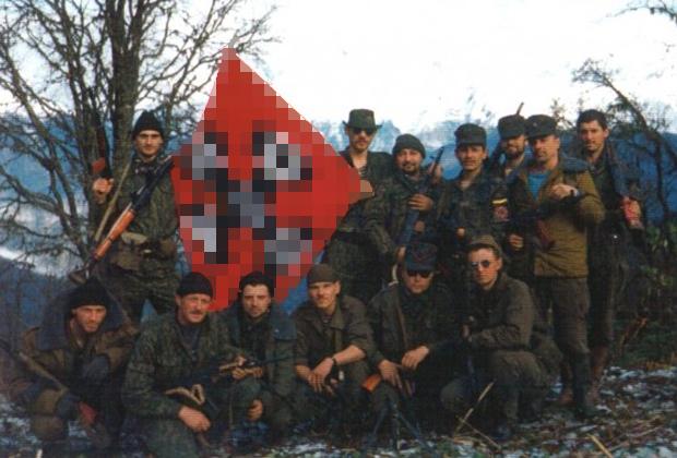 Бойцы УНСО в Абхазии