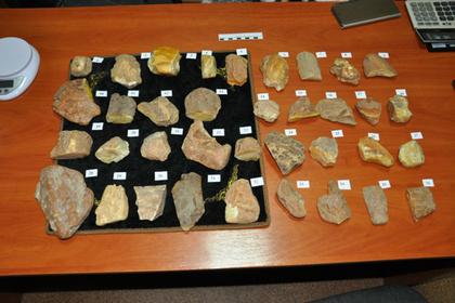 Российские полицейские украли 164 килограмма янтаря и остались на службе