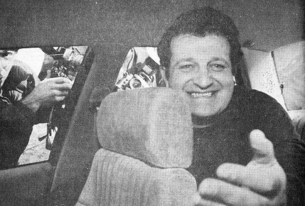 Март 1993 года. Шабтай Калманович сразу после выхода из тюрьмы в Израиле
