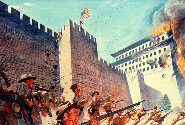Х. Чарльз Макбаррон «Американские войска в Пекине в августе 1900 года»