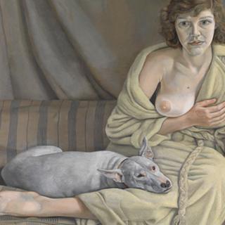 Люсьен Фрейд «Девушка с белой собакой», 1950-1951 гг.