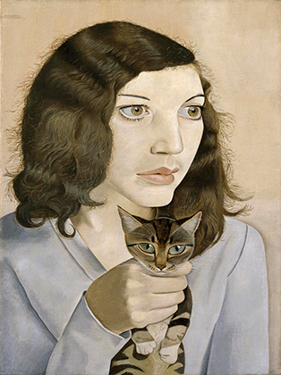 Люсьен Фрейд «Девушка с котенком», 1947 г.