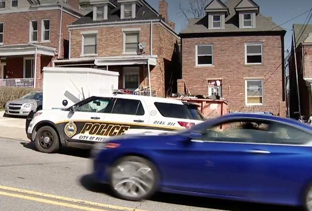 Дом на улице Блэк-стрит, Питтсбург, где были найдены останки женщины