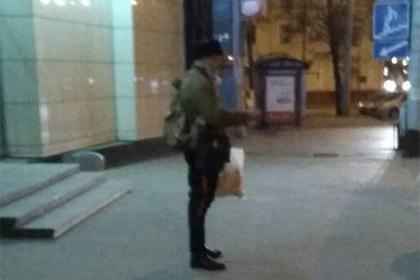 В Минске снова сбили шапку с казака