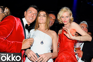 PHOTO: SIPA PRESS/EAST NEWS (L-R)Stefano Gabbana, Carine Roitfeld (Vogue France), Christian Audigier and Eva Herzigova at the 51th birthday party of  Christian Audigie at the VIP Room in Cannes. Cannes, FRANCE -21/05/2009/0905221610
