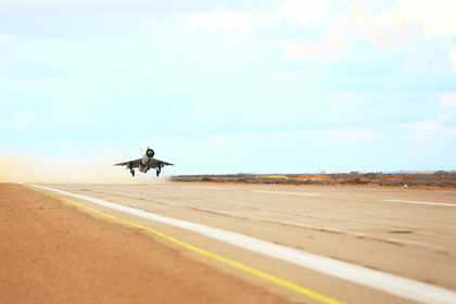 МиГ-21 столкнулся с птицей и упал