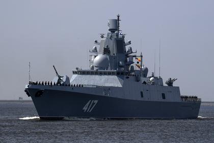 Российский корабль с вызывающим рвоту оружием провел учения у берегов Шотландии