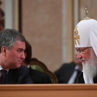 Вячеслав Володин и патриарх Кирилл