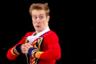 Спортсмен из России Александр Самарин во время выступления в произвольной программе мужского одиночного катания на соревнованиях по фигурному катанию.