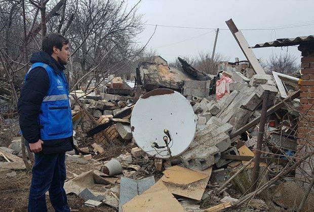 Одно из поселений близ линии разграничения