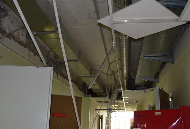 Обстановка внутри общежития после окончания массовых беспорядков