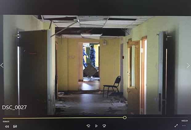 Изображение с видеорегистраторов сотрудников, утром вошедших в общежитие