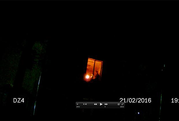 Изображение с видеорегистратора сотрудника Можайской ВК