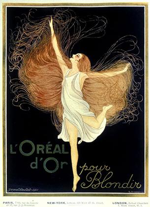 """Исторический рекламный постер """"L'Oréal d'Or pour Blondir"""""""