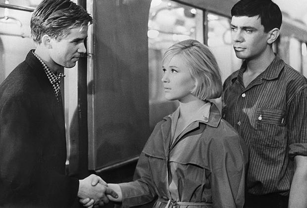 Кадр: фильм «Я шагаю по Москве», 1963