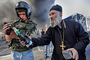Столкновения в центре Киева. Август 2014 года