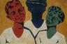 15 сентября 1974 года на опушке Битцевского леса двенадцать художников под проливным дождем устроили первый осенний просмотр картин на открытом воздухе. Не успели участники развернуть экспозицию перед иностранными корреспондентами и зрителями, как на них двинулись бульдозеры и поливальные грузовики, которые облили художников жидкой грязью и вытеснили с площадки. Некоторые работы пострадали, в том числе у Комара и Меламида под колесами машин погиб «Двойной автопортрет», была также сильно повреждена работа «Дружба народов». В результате милиция рассеяла участников и немногочисленную публику, троих художников арестовали. Это событие впоследствии станет легендой — «Бульдозерной выставкой».