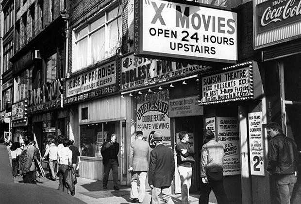 Порнокинотеатры на Таймс-сквер в Нью-Йорке