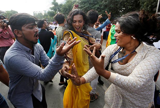 Индийцы празднуют декриминализацию гомосексуальных отношений