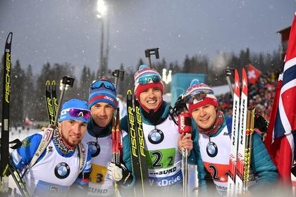 Российские биатлонисты выиграли медаль чемпионата мира