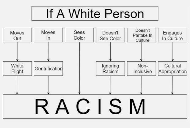 Что бы ни делал белый человек, все можно назвать расизмом