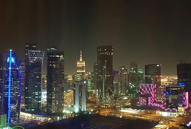 Столица Катара ночью выглядит впечатляюще.