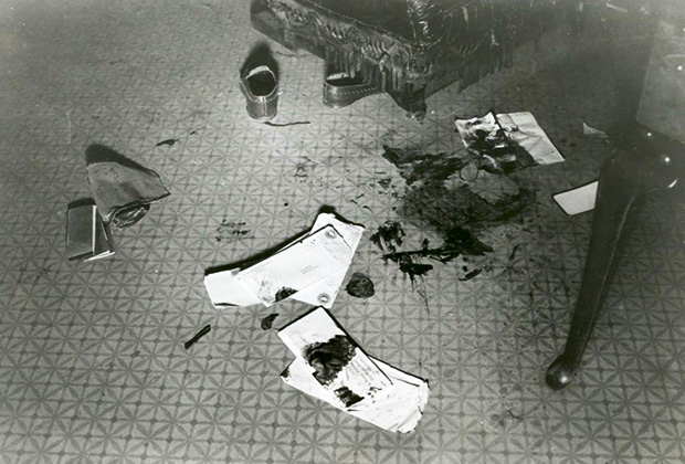 Кадры с места убийства Мэтта Уоррена