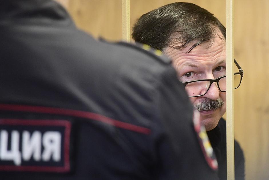 Владимир Барсуков (Кумарин) в зале суда