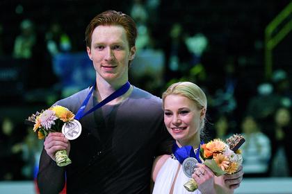 Российские фигуристы выиграли серебро в соревнованиях пар на ЧМ