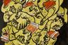 Кураторы выставки отобрали несколько работ, отражающих реальные исторические явления. Например, шарж Бориса Ефимова «Порочные узы», где художник обличил коррупцию брежневского застоя.