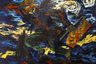 Николай Антипин посвящает несколько картин Винсенту Ван Гогу — турбулентные потоки света с картин великого голландца замазываются зловещими мазками — символами наступающей эпохи растерянности и безудержного стремления к земным благам.