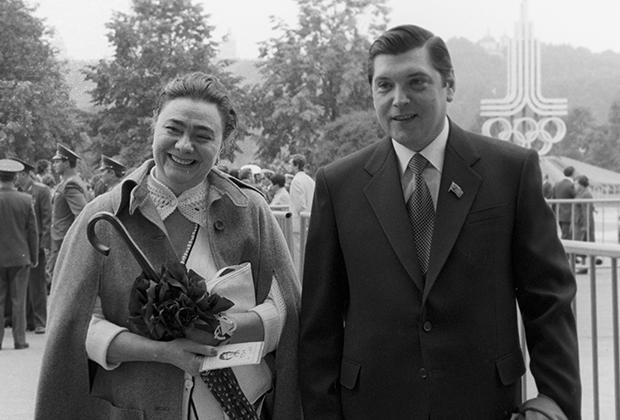 Галина Брежнева с мужем