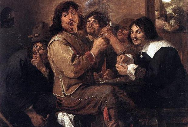 Адриан Брауэр «Курильщики», 1636