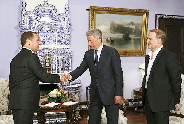 Дмитрий Медведев встретился с  Юрием Бойко и Виктором Медведчуком