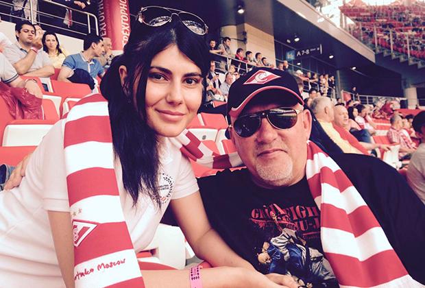 Михаил Орский с женой Мариэль