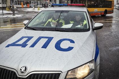 В Москве таксист сбил гаишника