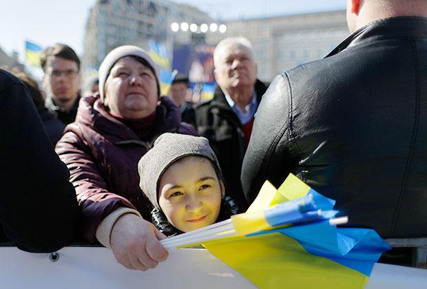 Сторонники Юлии Тимошенко на улице Киева