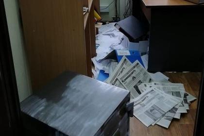 Россиянин разгромил офис газеты «Коммерсантъ»