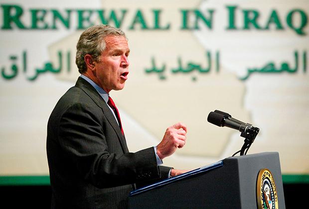Джордж-Буш младший на встрече с мусульманами в городе Дирборне