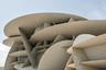 Общая идея и форма здания — «плагиат» архитектора у природы. Один из популярных сувениров из Катара — «роза пустыни», или «каменная роза». Это естественное образование — минеральный агрегат, напоминающий розовый бутон. Он представляет собой результат кристаллизации песка и нередко обнаруживается в катарских пустынях.